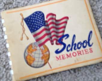 School Memories Paperback Spiral Book 1962-1963 North Carolina with Photographs