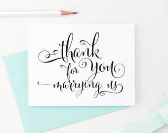 Thank You for Marrying Us Card, Wedding Card to Your Officiant, Wedding thank you cards, Priest, Rabbi, Deacon Note Card, WCP02