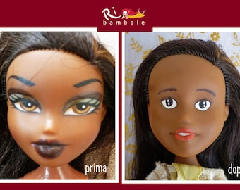 Dolls, Rb20, hand-painted doll, repaint doll, Ooak doll, Ooak doll repaint, Bratz repaint
