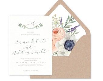 Wild Rose Wedding Invitations
