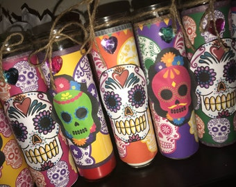 Dia De Los Muertos Candles/ Day Of The Dead Candles
