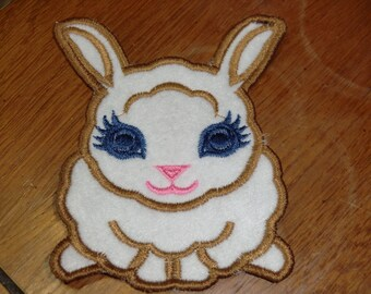 Embroidered Magnet - Easter - Felt Bunny