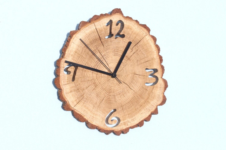 oak clock unique wall clocks wall clock wood big clock. Black Bedroom Furniture Sets. Home Design Ideas