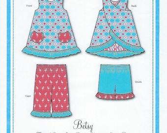 Bonnie Blue Pattern #162 / BETSY / Sizes 3 yr - 6 yr