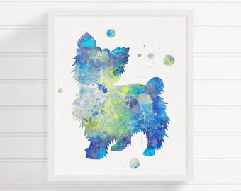 Yorkshire Terrier Print, Watercolor Yorkshire Terrier, Yorkshire Terrier Art, Watercolor Dog, Dog Wall Art, Yorkie Art Print,Kids Room Decor