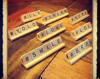 hashtag your favorite word,  inspiration, unique gift for friend, bff, lol, ily, love, hope, dream, smile, yolo