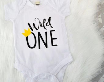 Wild One, Wild One Birthday Outfit, Where the Wild Things Are, One, First Birthday, 1st Birthday, Smash Cake Outfit, Wild One Shirt, Two
