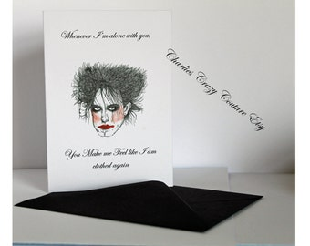 Robert Smith card  and badge (A6 size)