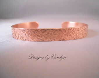 Textured Copper Cuff Bracelet CSS133B