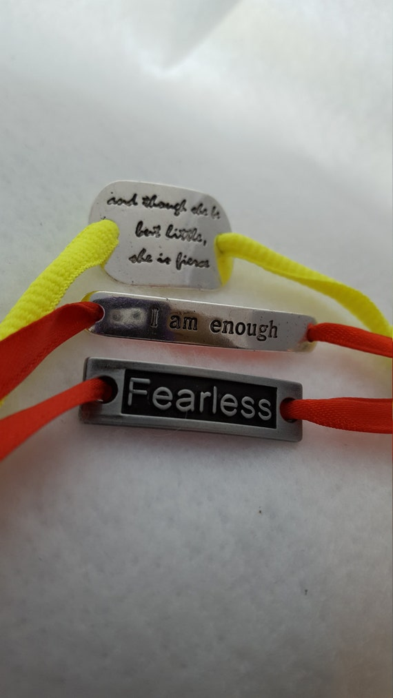 Shoelace Tags, Shoe Tags, FEARLESS Shoe Lace Charm, Running Shoe Charms, Sports Team Gifts, Swag Bag, Fitness Sports Jewelry, Race Swag
