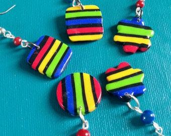 little striped earring pair