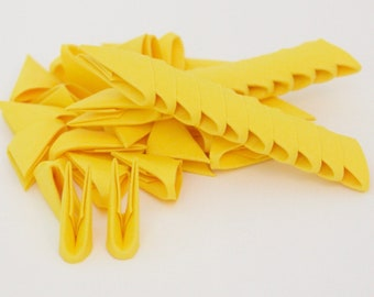 250pcs Canary Yellow 3D Origami Paper Triangles