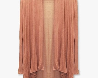 Washed jersey light weight summer cardigan  dye look