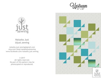 Upstream quilt pattern - downloadable pdf