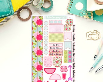 Floral Weekly personal planner stickers, Personal sticker kit, Personal size planner stickers, Weekly kit, Sticker kit, WP1