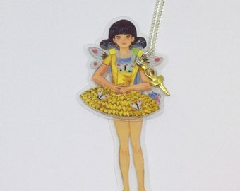 Ballerina Paper Doll - Emily - Laminated Necklace
