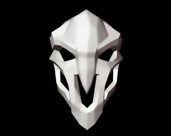 Make your own reaper Mask, Printable Mask, Instant Pdf download, Paper Mask, DIY template