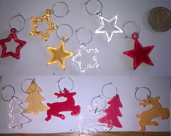 333) miniature subjects, stars and translucent areas of Christmas charms