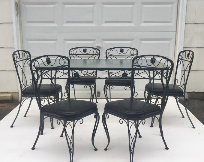 Salterini Style Patio Set with table and chairs