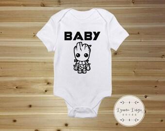 Baby Groot Body, Marvel-Baby-Geschenk, Wächter des Galaxy Babys bestaunen  Body, Baby, Marvel-Baby-Kleidung, Groot bestaunen, ich bin Groot d9b295290a