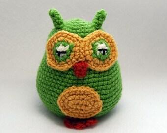 PDF Crochet Pattern - Amigurumi Baby Owls