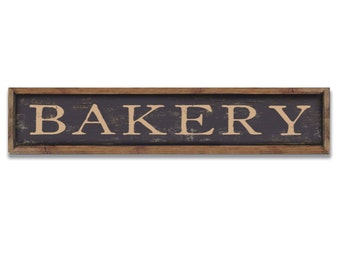 Bakery wooden sign framed out in reclaimed wood business signs kitchen sign kitchen plaques kitchen wall decor bakery wall decor handmade
