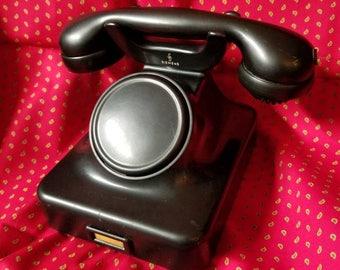 Siemens Black Rotary Telephone Fg. tist 167c