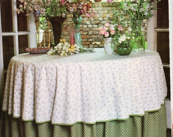 Circular Table Cloth Sewing Pattern PDF Tutorial Instructions To Make Round  Tablecloth Pdf Instant Download