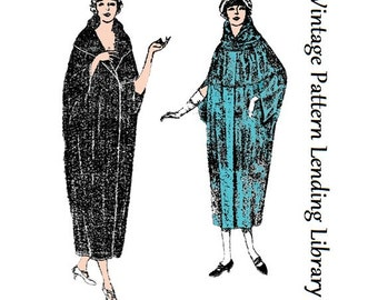 1920s Ladies Cocoon-Style Wrap With Convertible Collar - Reproduction Sewing Pattern #Z4265