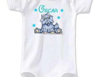 Hippo personalized with name Bodysuit