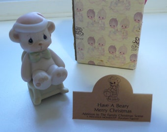 """1980s Precious Moments """"Have A Beary Merry Christmas"""" 