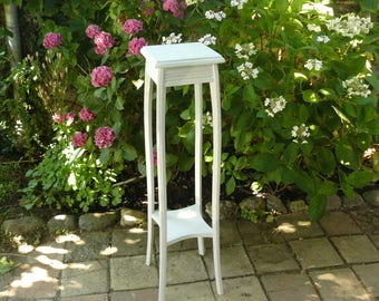 Wooden stand painted in off-white weathered, 2 levels