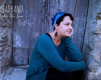 Headband-light blue hair Band-swell-Into the Sea collection