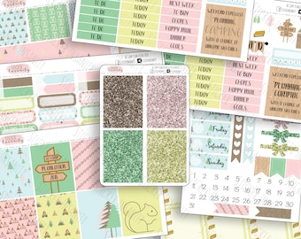 AZ Camp Plancation 2018: planner stickers, Erin Condren, eclp, sew much crafting, Annie Plans Printables, 1407 planners, weekly kit