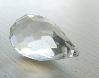 Clear Glass Briolette 15x24mm