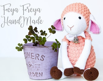 Hand-made crochet sheep