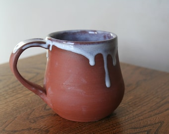 Small Frosted Red Iron Clay Mug 1