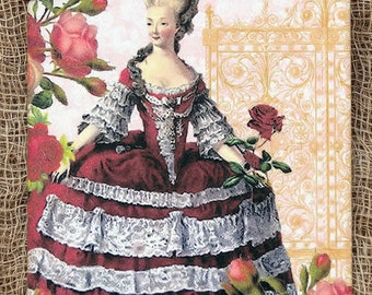 French Marie Antoinette Gift or ScrapbookTags or Magnet #625