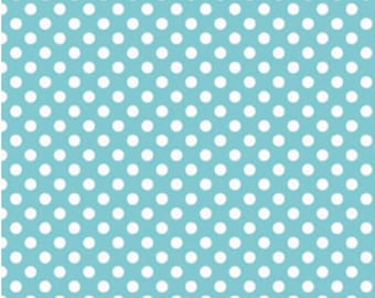 Small Dots Aqua - 1 Yard Cut -  Riley Blake Designs - Aqua Dots - Cotton Fabric - Aqua Fabric