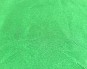 Kelly Green Silk Crepe de Chine Fabric 2 yards