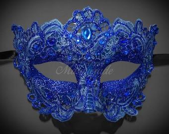 Masquerade Mask, Lace Masquerade Mask, Masquerade Ball Masks, Mask, Mardi Gras Mask, Lace Mask,  Royal Blue Masquerade Ball Mask