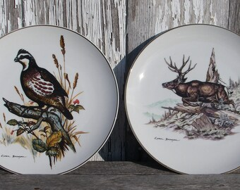 Vintage Clark Bronson Collectors Plates, Set of 6 Limited Edition Clark Bronson Wildlife Plates, Rustic Country Home Decor, Wall Plates
