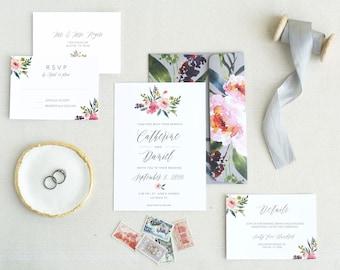 Wedding Invitation. Printable Wedding Invitations. Invitation Template. Floral Wedding Invitation. Minimal Wedding Invitations. Botanical