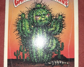 Vintage Garbage Pail Kids Topps card Prickly Rick