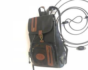 Vintage black backpack large travel bag