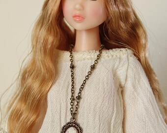Cameo necklace - Handmade jewerly for Momoko and 1/6 fashion dolls (2 colors)