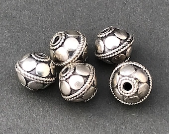 7mm Silver Bali Bead Style B511
