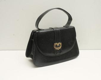 Miss America Handbag Black Purse with Gold