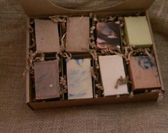 Goats Milk Soaps Sampler Family or Couples Gift Box 7