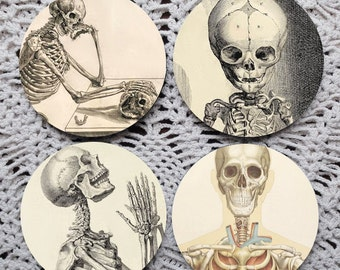 Skeletons in the Closet -- Bones Mousepad Coaster Set